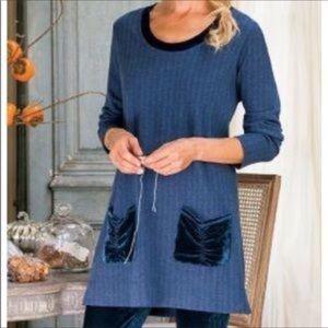 SOFT SURROUNDINGS HERRINGBONE PATTERN TUNIC DRESS